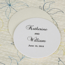 Big Day Round Personalized Coasters