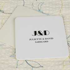 Simple Monogrammed Square(Set Of 12) Personalized Coasters