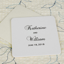 Big Day Square(Set Of 12) Personalized Coasters