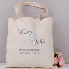 Personalized Bride & Groom Tote Bag