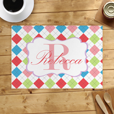 Personalized Colorful Square Placemats