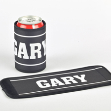 You Name It Personalized Can And Bottle Wrap, Black