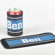 You Name It Personalized Can And Bottle Wrap, Blue