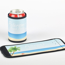 Beach Personalized Can And Bottle Wrap