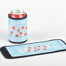 Pool Personalized Can And Bottle Wrap
