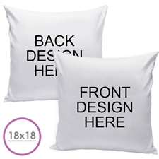 20 X 20 Custom Design Front And Back Pillow  Cushion (No Insert)