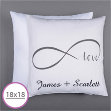 Infinity Love Personalized Pillow Cushion (18 Inch) (No Insert)