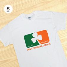 Personalized Irish Drinking League, White T Shirt