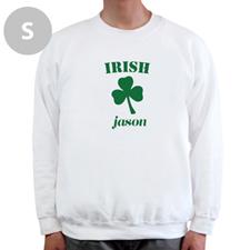 Design Your Own Irish, White Sweatshirt