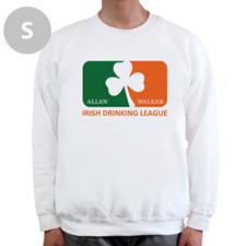 Design Your Own Irish Drinking League, White Sweatshirt