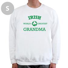 Design Your Own Irish Grandma, White Sweatshirt