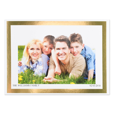 Create Your Own Gold Foil Frame Personalized Photo Card, 5X7
