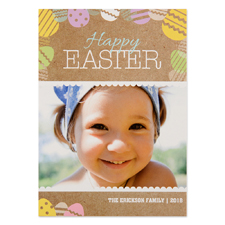 Create Your Own Easter Egg Personalized Photo Card 5X7