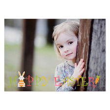 Create Your Own Little Bunny Personalized Easter Photo Card 5X7
