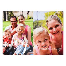 Create Your Own Joy Two Collage Personalized Photo Foil Card Silver Card Invites