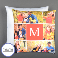 Six Collage Personalized Photo Pillow Cushion Cover 16