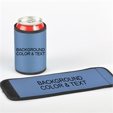 Background Color & Text Can And Bottle Wrap