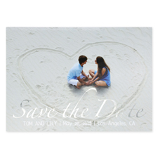 Hold The Date Foil Silver Personalized Photo Save The Date Cards