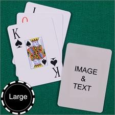Personalized Large Size Jumbo Index Playing Cards