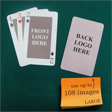 Personalized Large Size Classic Custom 2 Sides Playing Cards