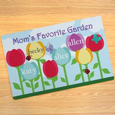 Mom's Garden Personalized Doormat
