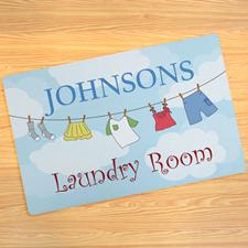 Laundry Room Personalized Doormat