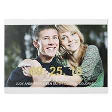Glitter Big Statement Personalized Photo Save The Date Cards