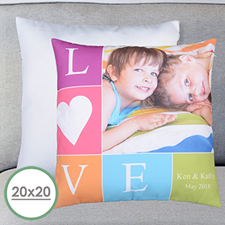 Love Photo Personalized Large Pillow Cushion Cover 20
