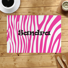 Pink Skin Personalized Placemat