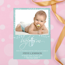 Baptism Tree Personalized Invitation Cards