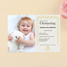 Christening Personalized First Communion Invitation Cards