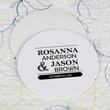 Big Day Cardboard Round Coaster Custom Print