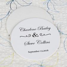 Classic Wedding Cardboard Round Coaster Custom Print