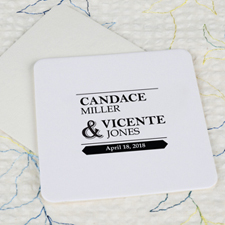 Big Day Cardboard Square Coaster Custom Print