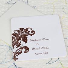 Vintage Wedding Cardboard Square Coaster Custom Print