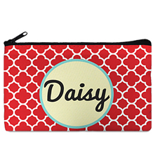 Red Clover Monogrammedmed Personalized Cosmetic Bag, 5 X 8