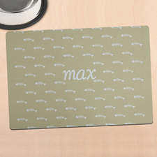 Beige Kitty Personalized Meal Mat