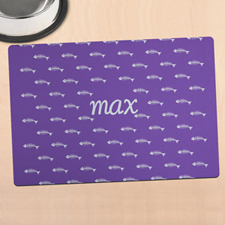 Purple Kitty Personalized Meal Mat
