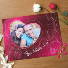 Personalized Be My Valentine 12X16.5 Photo Puzzle