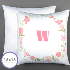 Floral Personalized Pillow Cushion Cover 16
