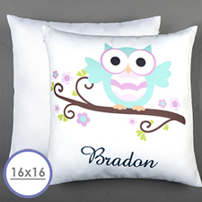 Owl Personalized Pillow Cushion Cover 16