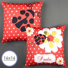 Ladybug Personalized Pillow Cushion Cover 16