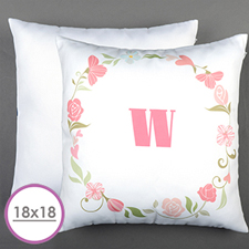 Floral Personalized Large Cushion 18