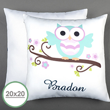 Owl Personalized Large Pillow Cushion Cover 20