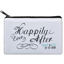 Happily Ever After Personalized Wedding Cosmetic Bag