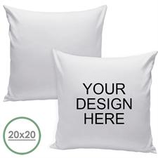 20 X 20 Custom Design Pillow (White Back) Cushion (No Insert)