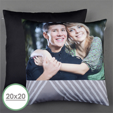 Grey Print Personalized Large Pillow Cushion Cover 20