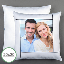 White Personalized Large Pillow Cushion Cover 20
