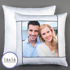 White Personalized Pillow Cushion Cover 16