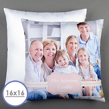 Pink Frame Personalized Pillow Cushion Cover 16